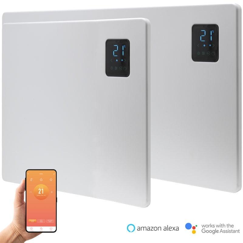 Caldo Slimline WiFi Smart Electric Heater, Wall Mounted, IPX4 Splashproof