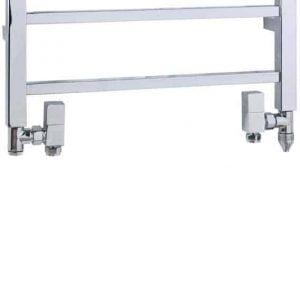 Dual Fuel Towel Rail Kit E PTC Heating Element Chrome Square Valves 1
