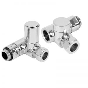 Angled Dual Fuel Valves for and Dual Fuel Towel Rail Radiator 1