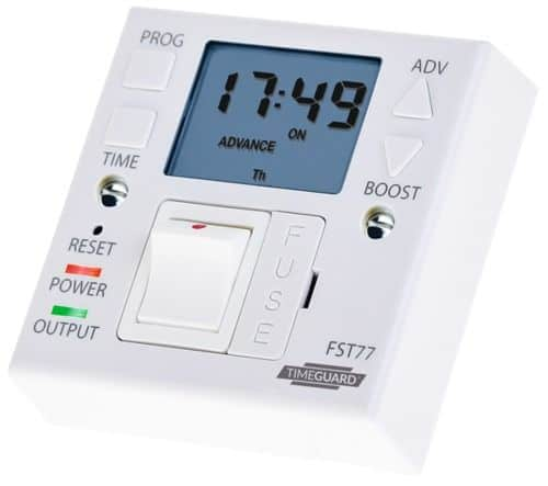 Fused Spur 247 Timer TimeGuard FST 77A for Electric Radiator and Towel Rail 1