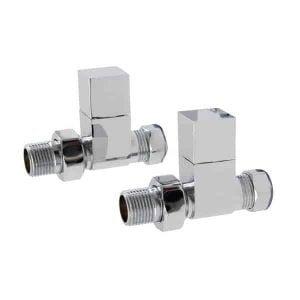 Straight Square Valves for and Dual Fuel Towel Rail Radiator 1