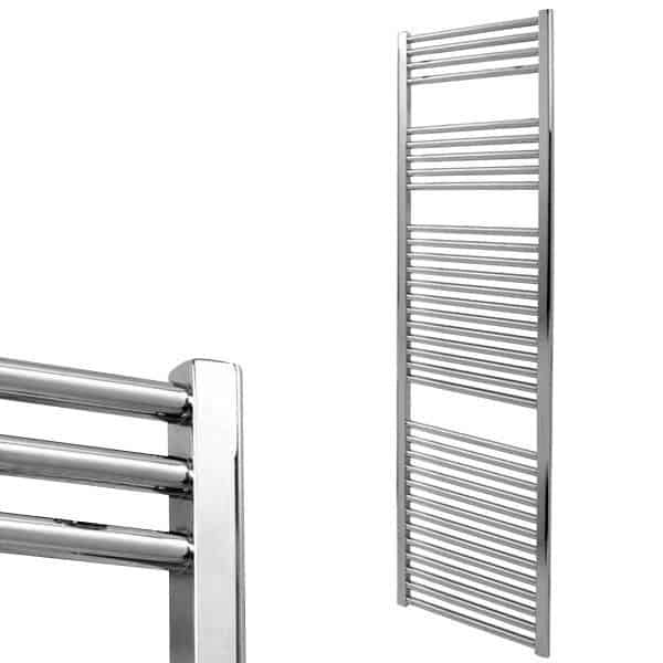 Electra Heated Straight Ladder Towel Rail Classic Chrome/White/Anthracite 4