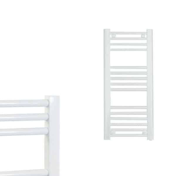 Electra Heated Straight Ladder Towel Rail Classic Chrome/White/Anthracite 8