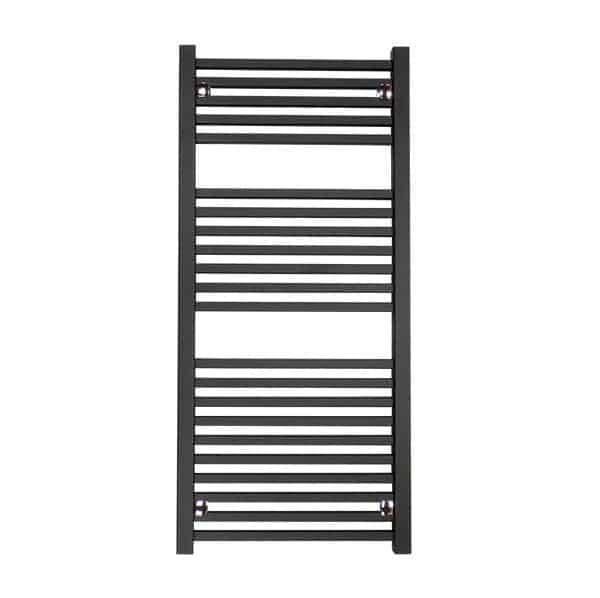 Sirius Square Tube Heated Ladder Towel Rail Chrome/White/Black 5