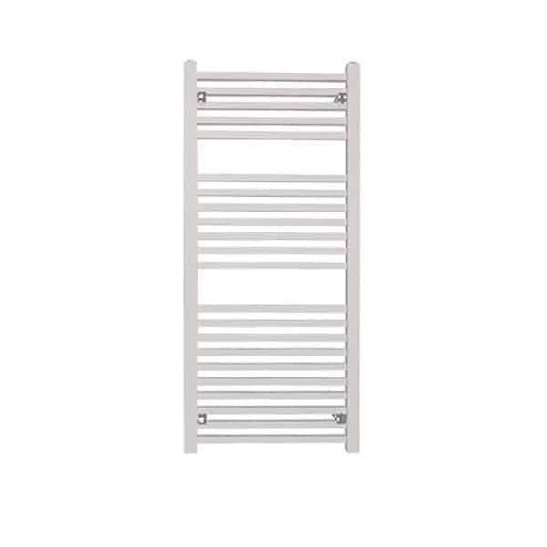 Sirius Square Tube Heated Ladder Towel Rail Chrome/White/Black 8