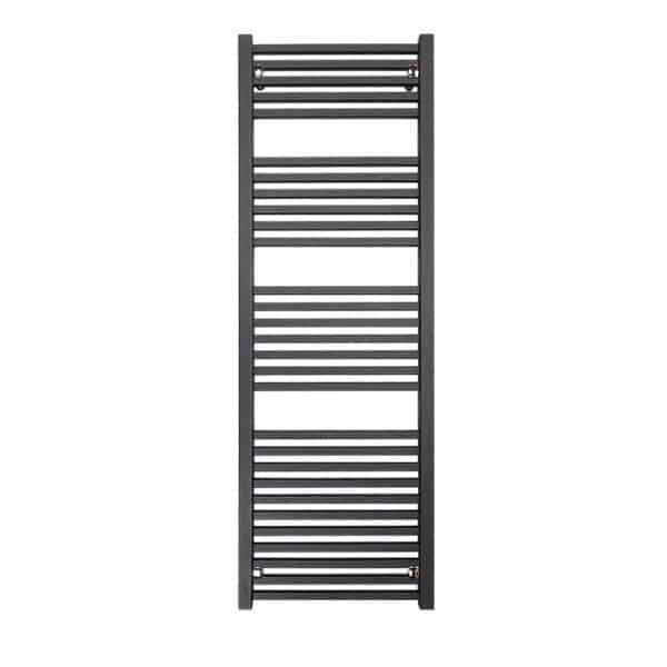 Sirius Square Tube Heated Ladder Towel Rail Chrome/White/Black 6