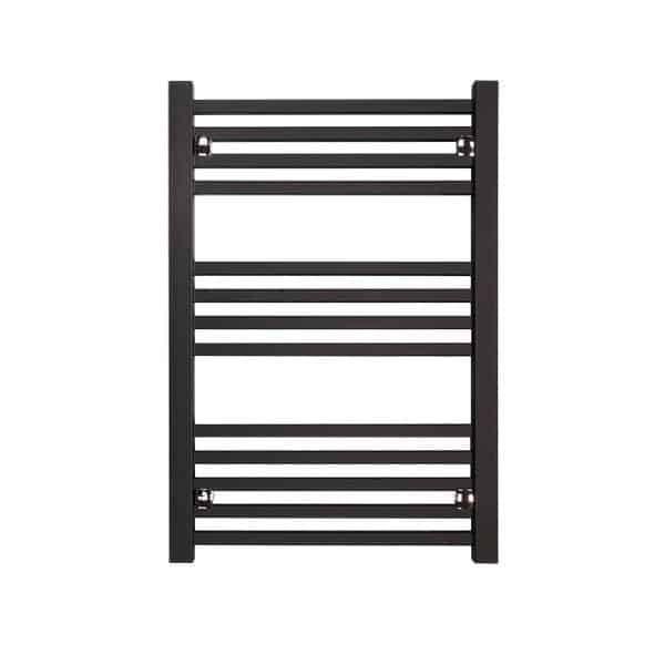 Sirius Square Tube Heated Ladder Towel Rail Chrome/White/Black 4