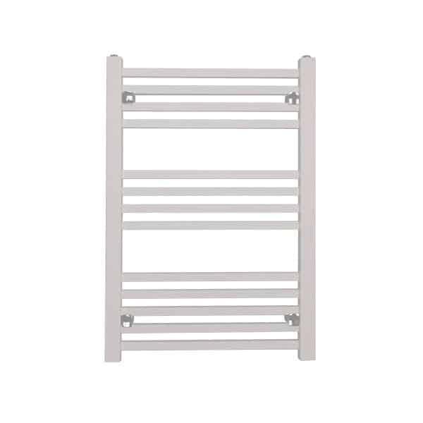 Sirius Square Tube Heated Ladder Towel Rail Chrome/White/Black 7