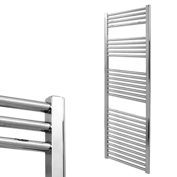 Electra Heated Straight Ladder Towel Rail Classic Chrome/White/Anthracite 3