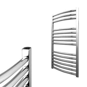 Electra Curved Heated Ladder Towel Rail Classic Chrome/White 1
