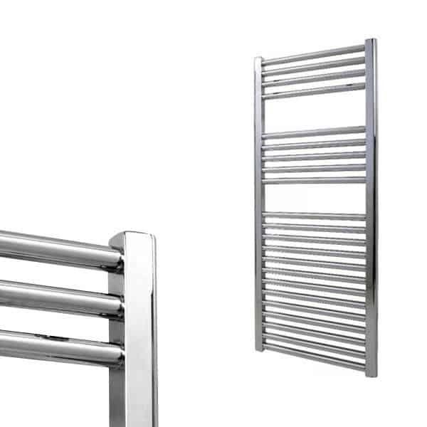 Electra Heated Straight Ladder Towel Rail Classic Chrome/White/Anthracite 2