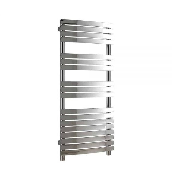 Vega Designer Flat Bar Heated Towel Rail Chrome/White/Black 2