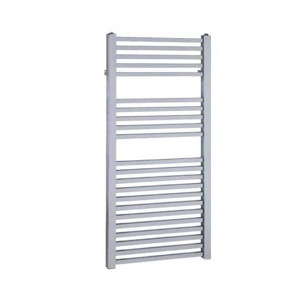 Sirius Square Tube Heated Ladder Towel Rail Chrome/White/Black 2