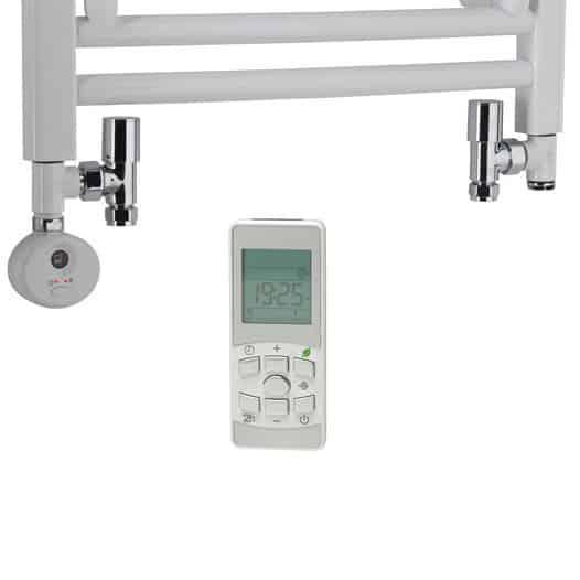 Dual Fuel Towel Rail Kit D Thermostatic Heating Element Round Valves 2