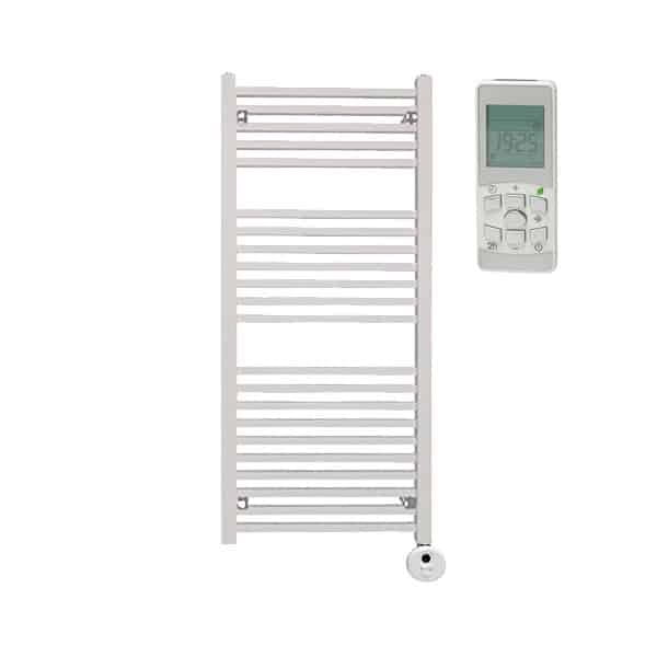 Sirius Thermostatic Electric Square Tube Heated Ladder Rail Towel Warmer Rack Chrome/White/Black
