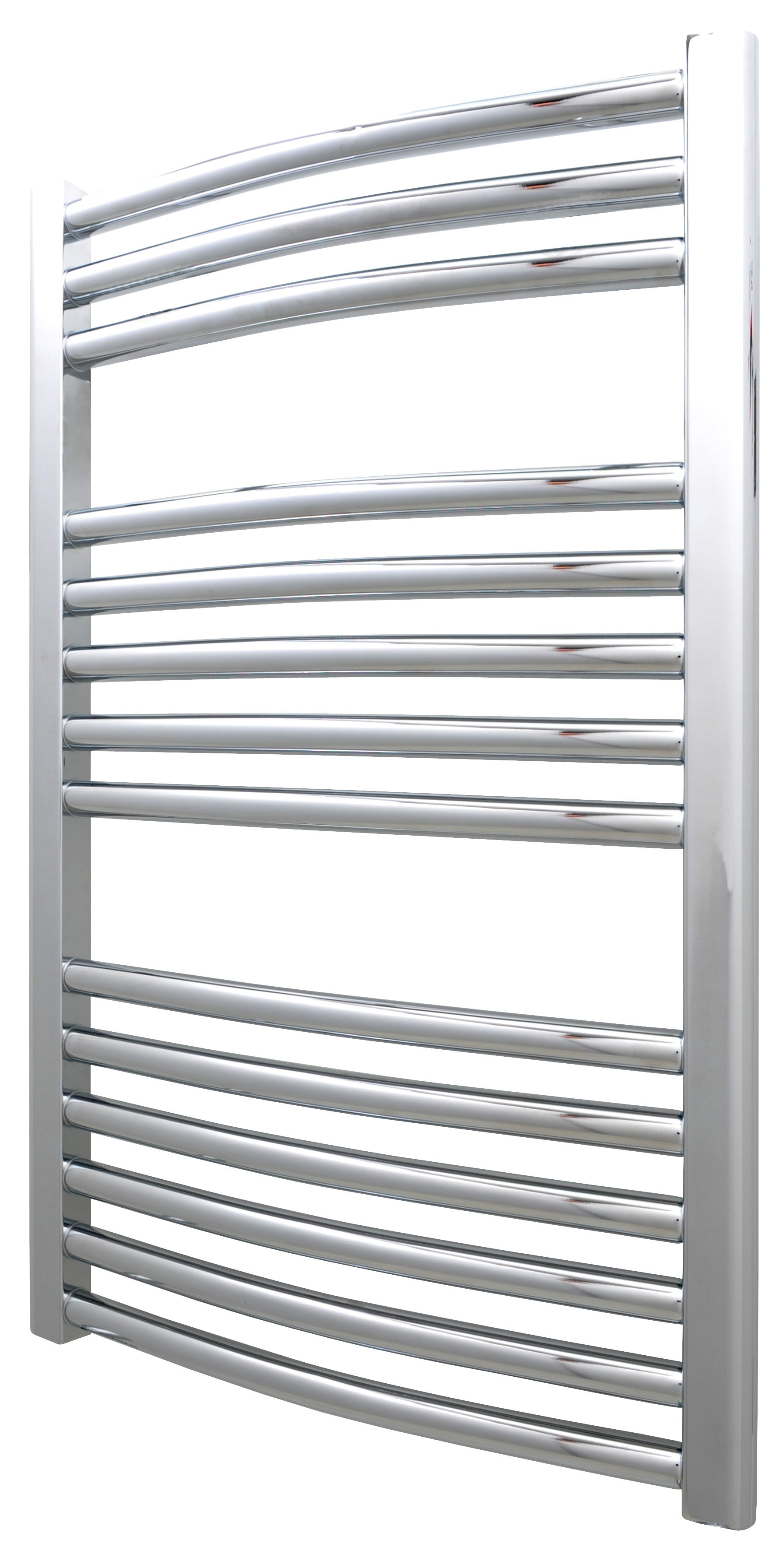 Bellerby Thermostatic Electric Heated Towel Rail Radiator   Timer Curved