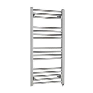 Polaris Electric Straight Chrome Heated Ladder Rail Towel Warmer Rack
