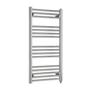 Polaris Electric Straight Chrome Heated Ladder Rail Towel Warmer Rack