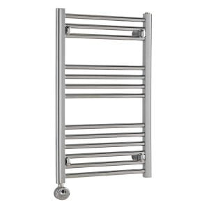 Polaris Thermostatic Electric Straight Chrome Heated Ladder Rail Towel Warmer Rack