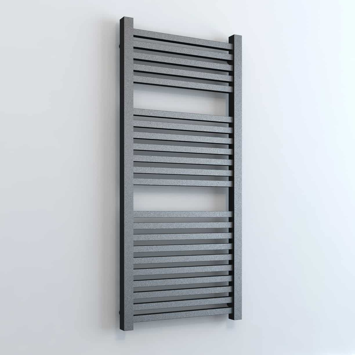 Langdale Square Tube Thermostatic Electric Heated Towel Rail Timer Chrome White Grey Beach