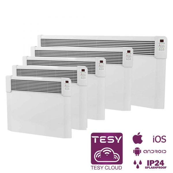 Tesy CN04 Wifi Electric Panel Heaters 500W-2500W