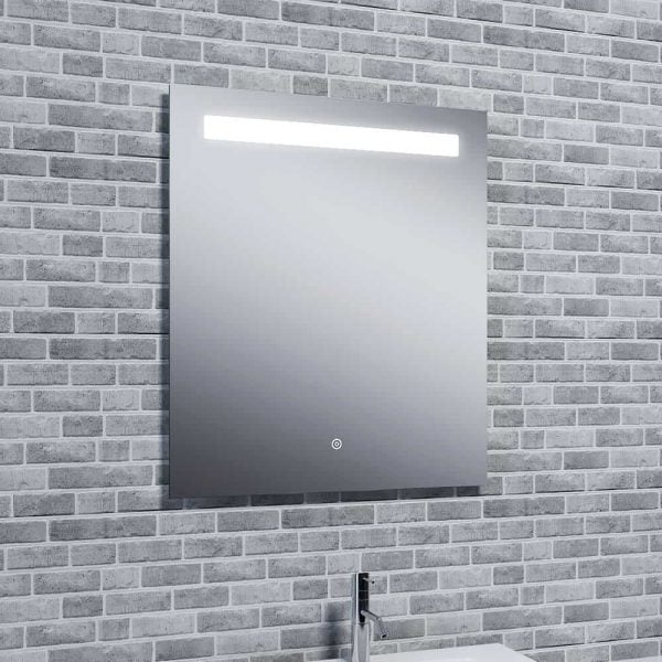 Reflections Islay, Modern Bathroom LED Mirror With Demister, Shaver Socket