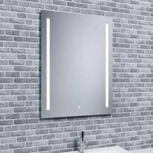 Reflections Jura, Modern Bathroom LED Mirror With Demister, Shaver Socket