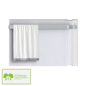 Radialight Klima, Radiant Heater / Electric Wall Mounted Panel Radiator Bathroom Safe with Towel Rail