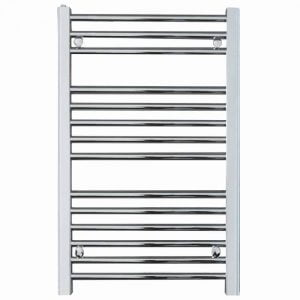 Bellerby Anthracite Straight Towel Warmer / Heated Towel Rail Radiator - Electric, Thermostat + Timer