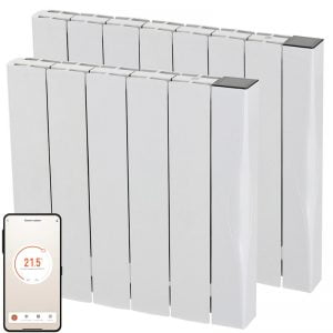EXO Ceramic Aluminium WIFI Electric Wall Heater + Timer, Thermostat